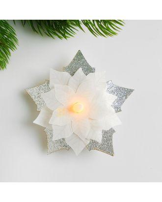 Набор для создания новогодней подвески со светом «Цветочек» арт. СМЛ-15989-1-СМЛ3925193
