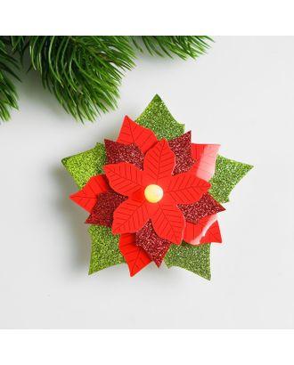 Набор для создания новогодней подвески со светом «Цветок» арт. СМЛ-15990-1-СМЛ3925194