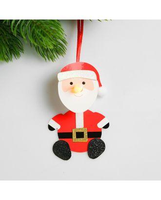 Набор для создания новогодней подвески со светом «Дед мороз» арт. СМЛ-15993-1-СМЛ3925197