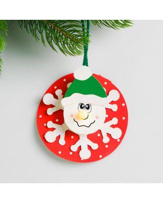 Набор для создания новогодней подвески со светом «Веселый снеговик» арт. СМЛ-15996-1-СМЛ3925200