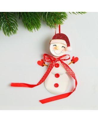Набор для создания новогодней подвески со светом «Милый снеговичок» арт. СМЛ-15997-1-СМЛ3925201