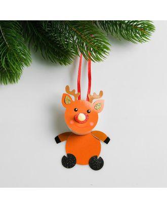 Набор для создания новогодней подвески со светом «Олень с бантиком» арт. СМЛ-15999-1-СМЛ3925203