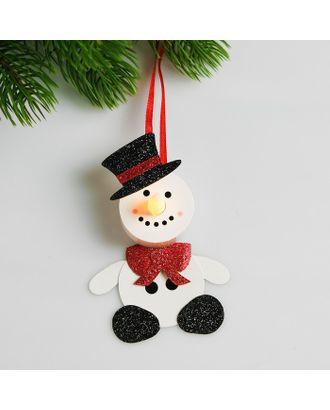Набор для создания новогодней подвески со светом «Снеговик в шляпе» арт. СМЛ-16000-1-СМЛ3925204