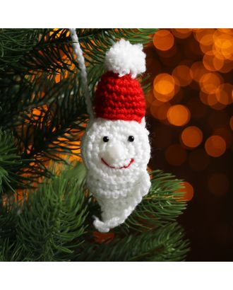 Набор для создания новогодней подвески со светом «Дед Мороз-красный нос» арт. СМЛ-16004-1-СМЛ3925208
