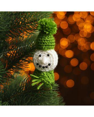 Набор для создания новогодней подвески со светом «Снеговичок в шапочке» арт. СМЛ-16005-1-СМЛ3925209