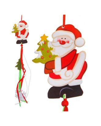 Набор для создания новогодней подвески «Дед Мороз с елочкой» арт. СМЛ-16031-1-СМЛ3925235