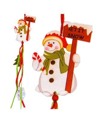 Набор для создания новогодней подвески «Снеговичок» арт. СМЛ-16032-1-СМЛ3925236