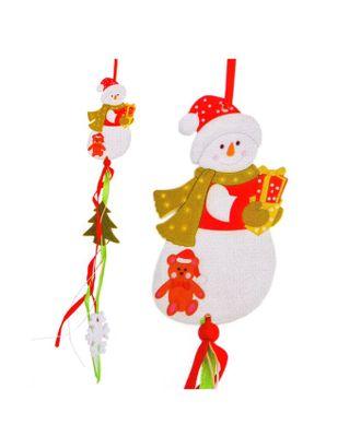 Набор для создания новогодней подвески «Снеговик с подарками» арт. СМЛ-16033-1-СМЛ3925237