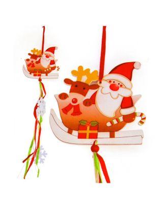 Набор для создания новогодней подвески «Дед Мороз в санях» арт. СМЛ-16035-1-СМЛ3925239