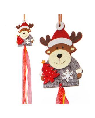 Набор для создания новогодней подвески «Олень с елочкой» арт. СМЛ-16038-1-СМЛ3925242