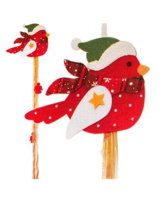 Набор для создания новогодней подвески «Птичка в шапочке» арт. СМЛ-16039-1-СМЛ3925243