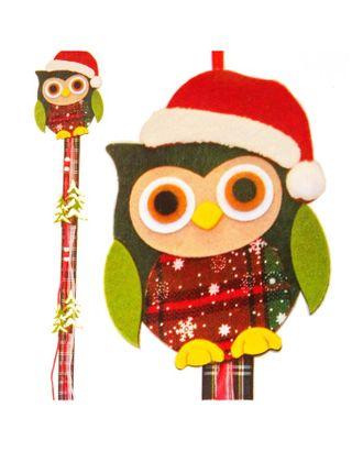 Набор для создания новогодней подвески «Совушка в шапочке» арт. СМЛ-16041-1-СМЛ3925245