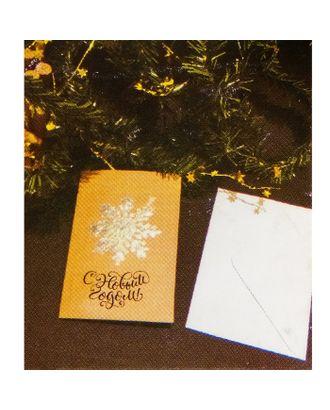 Набор для создания новогодней поздравительной открытки «Снежинка» арт. СМЛ-16064-1-СМЛ3925268