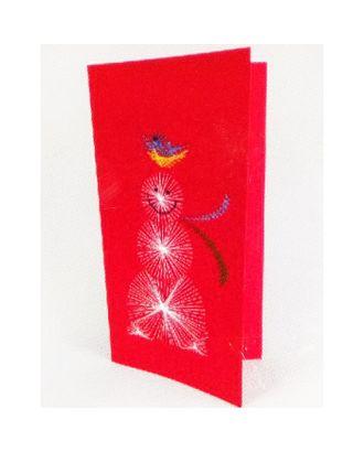 Набор для создания новогодней поздравительной открытки - изонить «Снеговик» арт. СМЛ-16074-1-СМЛ3925278