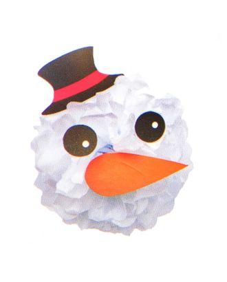 Набор для создания новогодней подвески из бумаги «Снеговичок» арт. СМЛ-16077-1-СМЛ3925281