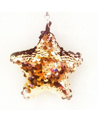 Набор для создания подвески из ткани с пайетками «Звезда» арт. СМЛ-16103-1-СМЛ3925307
