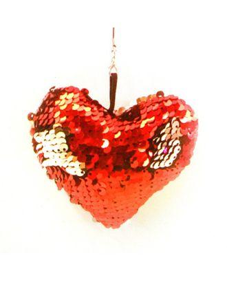 Набор для создания подвески из ткани с пайетками «Сердечко» арт. СМЛ-16104-1-СМЛ3925308