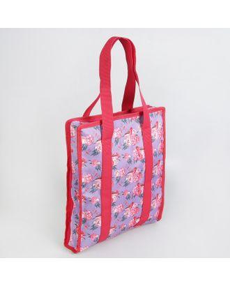 Сумка для рукоделия «Цветы», 35х30х7 см, цв.сиреневый арт. СМЛ-16137-1-СМЛ3932766