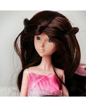 """Волосы для кукол """"Волнистые с хвостиком"""" размер маленький, цвет 4А арт. СМЛ-16161-1-СМЛ3934315"""