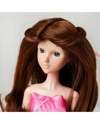 """Волосы для кукол """"Волнистые с хвостиком"""" размер маленький, цвет 12В арт. СМЛ-16164-1-СМЛ3934318"""