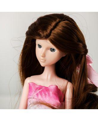 """Волосы для кукол """"Волнистые с хвостиком"""" размер маленький, цвет 6 арт. СМЛ-16165-1-СМЛ3934319"""