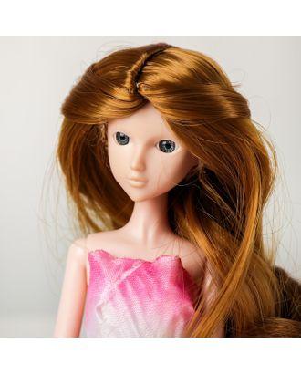 """Волосы для кукол """"Волнистые с хвостиком"""" размер маленький, цвет 16А арт. СМЛ-16168-1-СМЛ3934322"""