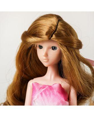 """Волосы для кукол """"Волнистые с хвостиком"""" размер маленький, цвет 22 арт. СМЛ-16170-1-СМЛ3934324"""