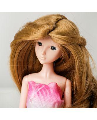 """Волосы для кукол """"Волнистые с хвостиком"""" размер маленький, цвет 24 арт. СМЛ-16171-1-СМЛ3934325"""