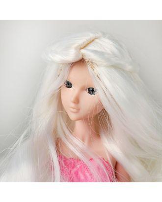"""Волосы для кукол """"Волнистые с хвостиком"""" размер маленький, цвет 60 арт. СМЛ-16173-1-СМЛ3934327"""
