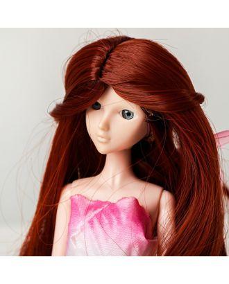 """Волосы для кукол """"Волнистые с хвостиком"""" размер маленький, цвет 350 арт. СМЛ-16174-1-СМЛ3934328"""