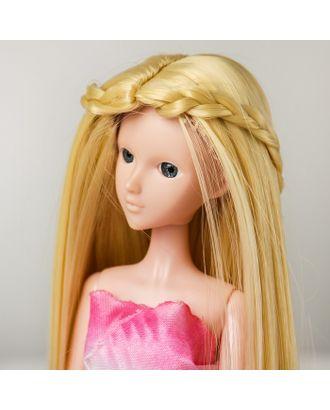 """Волосы для кукол """"Прямые с косичками"""" размер маленький, цвет 613 арт. СМЛ-16175-1-СМЛ3934329"""