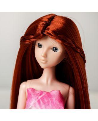 """Волосы для кукол """"Прямые с косичками"""" размер маленький, цвет 13 арт. СМЛ-16176-1-СМЛ3934330"""