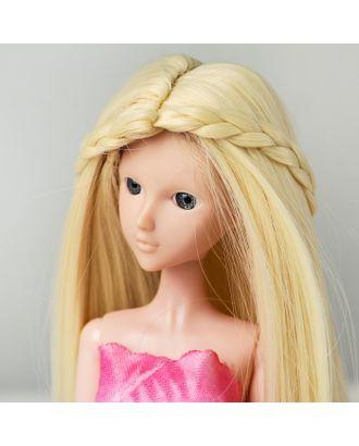 """Волосы для кукол """"Прямые с косичками"""" размер маленький, цвет 613А арт. СМЛ-16177-1-СМЛ3934331"""