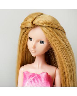 """Волосы для кукол """"Прямые с косичками"""" размер маленький, цвет 86 арт. СМЛ-16178-1-СМЛ3934332"""