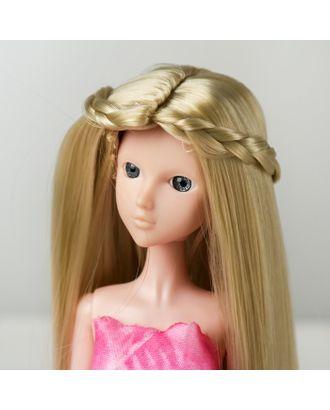 """Волосы для кукол """"Прямые с косичками"""" размер маленький, цвет 88 арт. СМЛ-16179-1-СМЛ3934333"""