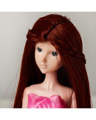 """Волосы для кукол """"Прямые с косичками"""" размер маленький, цвет 350 арт. СМЛ-16180-1-СМЛ3934334"""