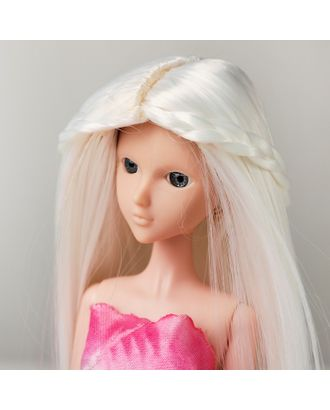 """Волосы для кукол """"Прямые с косичками"""" размер маленький, цвет 60 арт. СМЛ-16181-1-СМЛ3934335"""