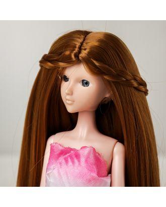 """Волосы для кукол """"Прямые с косичками"""" размер маленький, цвет 28 арт. СМЛ-16182-1-СМЛ3934336"""