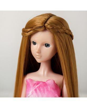 """Волосы для кукол """"Прямые с косичками"""" размер маленький, цвет 27 арт. СМЛ-16183-1-СМЛ3934337"""