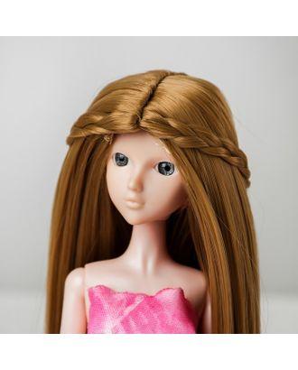 """Волосы для кукол """"Прямые с косичками"""" размер маленький, цвет 24 арт. СМЛ-16184-1-СМЛ3934338"""