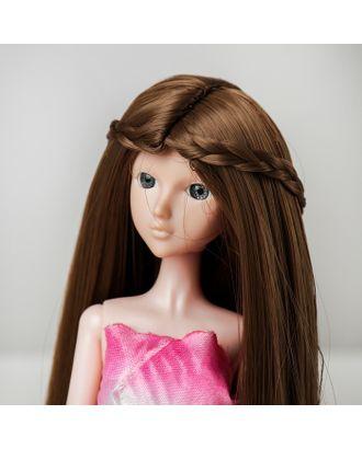 """Волосы для кукол """"Прямые с косичками"""" размер маленький, цвет 18Т арт. СМЛ-16185-1-СМЛ3934339"""