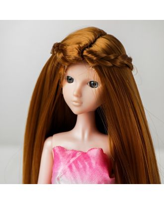 """Волосы для кукол """"Прямые с косичками"""" размер маленький, цвет 16А арт. СМЛ-16186-1-СМЛ3934340"""