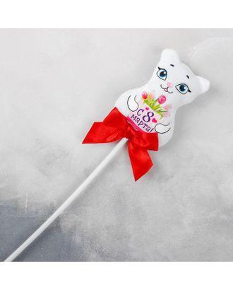 Мягкая игрушка на палочке «С 8 марта», кошка арт. СМЛ-121065-1-СМЛ0003936243