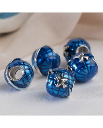 """Талисман """"Самолет"""" в полете, цв.синий в серебре арт. СМЛ-16241-1-СМЛ3937519"""