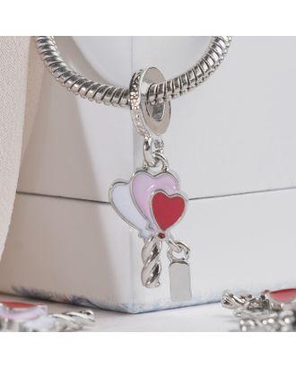 """Подвеска """"Воздушные шары"""" с запиской, цветная в серебре арт. СМЛ-16249-1-СМЛ3937541"""