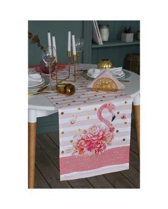 "Дорожка на стол со стразами ""Flamingo"" 40х146 см, 100% хл, саржа 190 гр/м2 арт. СМЛ-16347-1-СМЛ3943512"