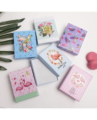 """Коробочка подарочная под набор """"Фламинго"""", 7*9 (размер полезной части 6,4х8,4см), цвет МИКС арт. СМЛ-16348-1-СМЛ3944135"""