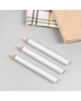 Карандаши для ткани, 8,5 см, 3 шт, цвет белый арт. СМЛ-41186-1-СМЛ0003944584