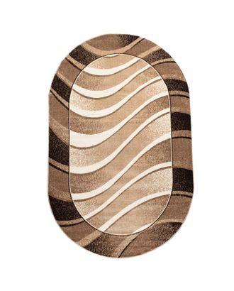 Ковер Фризе Эспрессо f2790/b2o/es овал 160х230 см, полипропилен 100% арт. СМЛ-29876-1-СМЛ3961113