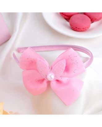"""Ободок для волос """"Малышка"""" 1 см ушки, блеск, розовый арт. СМЛ-17080-1-СМЛ3974858"""